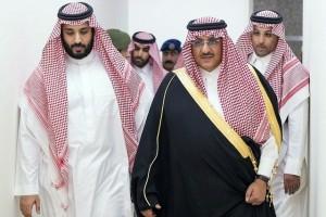 King Salman's son, Prince Mohammed bin Salman, left